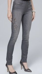 White House Black Market Embellished Jeans